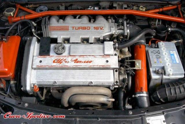Engine on Alfa Romeo Spider Rear Suspension